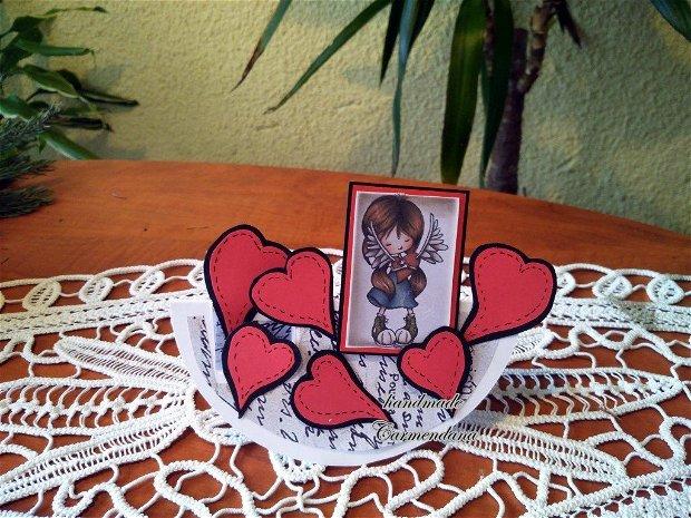 Felicitare handmade valentine day