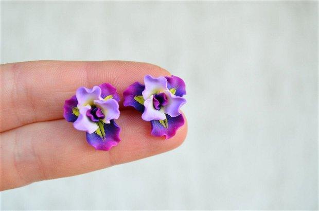 Irisul violet- cercei surub