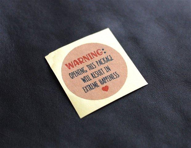 Stickere - Kraft - set 24  buc - WARNING