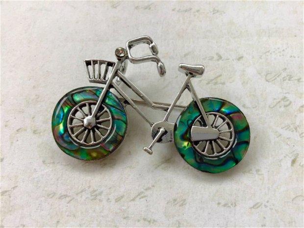 Brosa bicicleta & Paua Shell