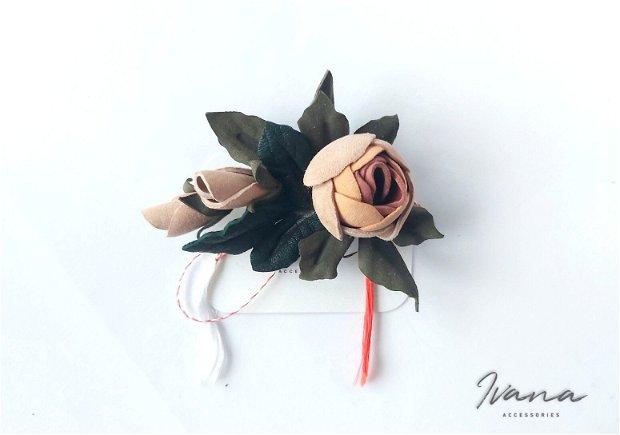 Mărțișor piele Trandafir nude