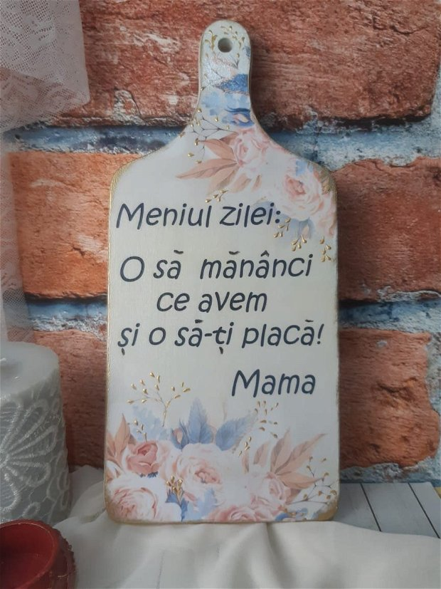 Tocator decorativ cu mesaj... motivational