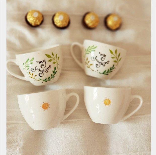 """Ceasca Cafea Cappuccino """" MY SUNSHINE """""""