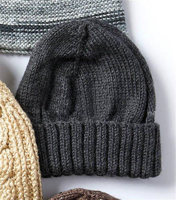 Caciula unisex (barbateasca) din lana merino