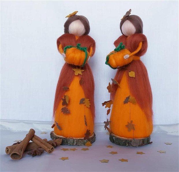 Zâna toamnei, decorațiune handmade din lânã merinos naturala 100%