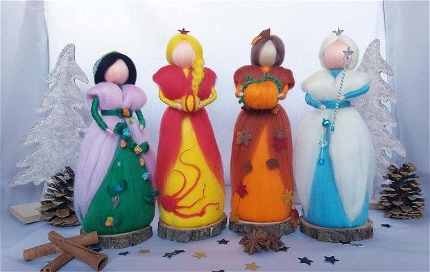 Zâna primăverii, decorațiune handmade din lână merinos 100%