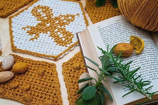 Patura/Cuvertura crosetata albinuta fagure