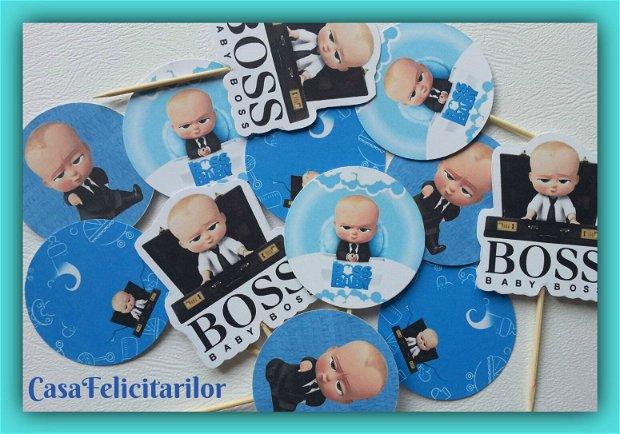 Cutii marturii botez tematica Baby Boss