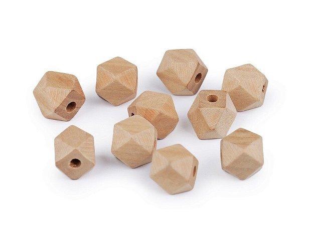 Margele din lemn natur 12 mm, 10 buc/set- 340129