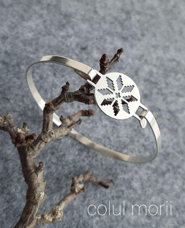 Brățară fixă din argint 925 Colul Morii