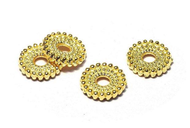 Distantier metalic, auriu, 10x2 mm