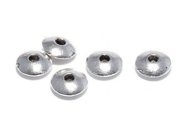 Distantier metalic, argintiu antichizat, 6x2 mm