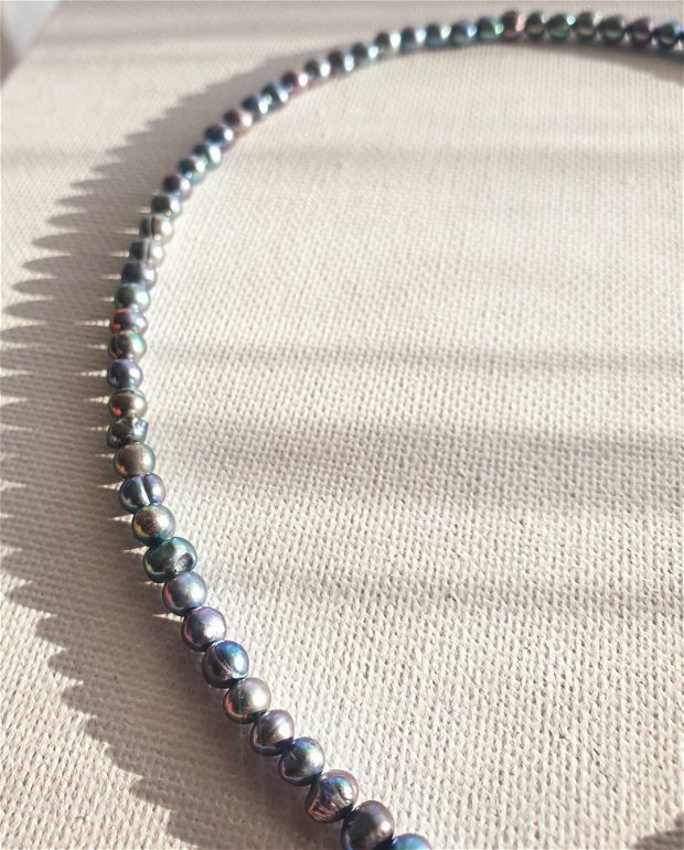 Colier perle naturale si banut