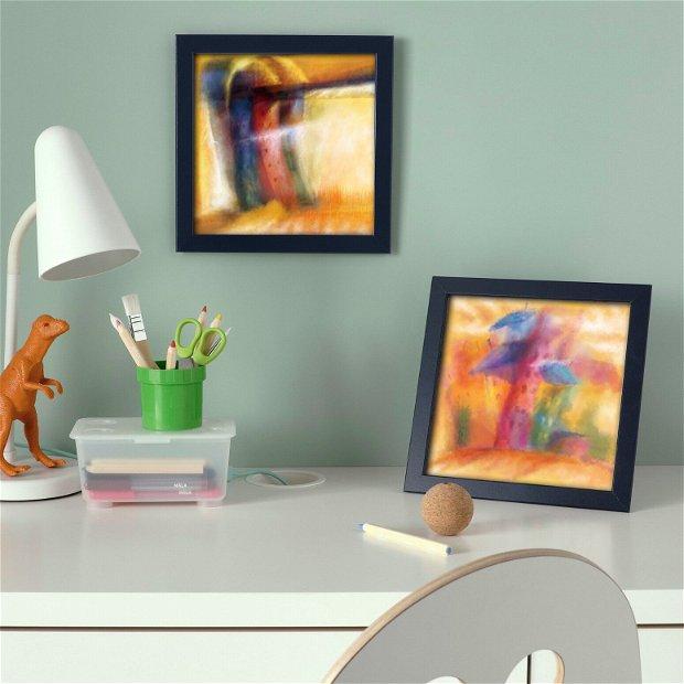 Casute, pictura, Arte Vizuale-Ilustratie