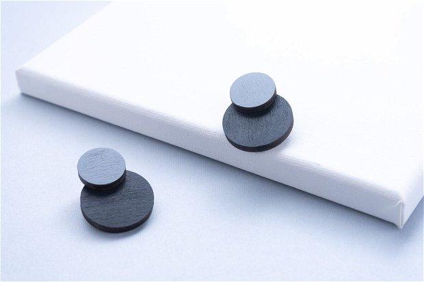 Cercei Simplitate Negru-GRI