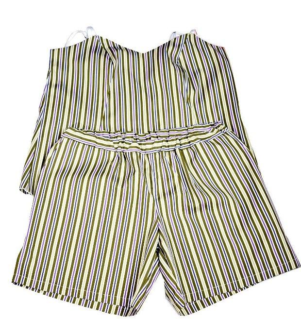 Set Green stripes