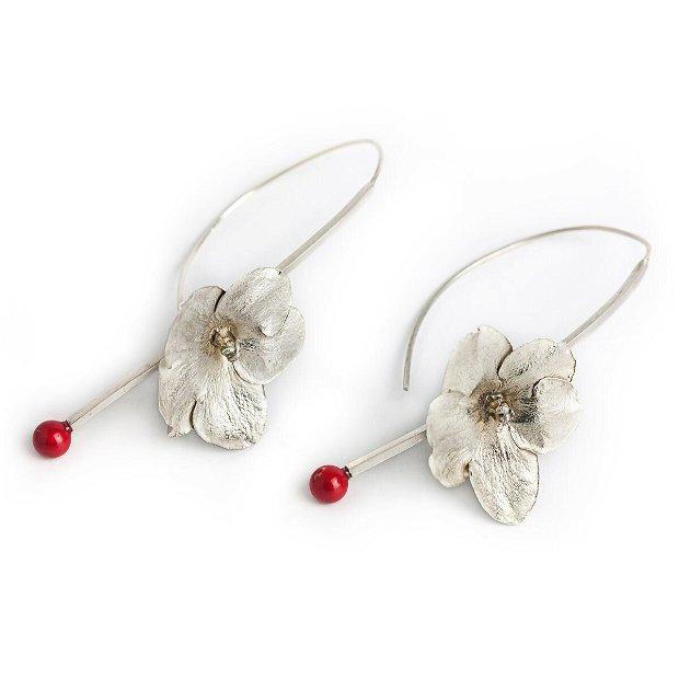 Cercei argint cu perle Swarovski