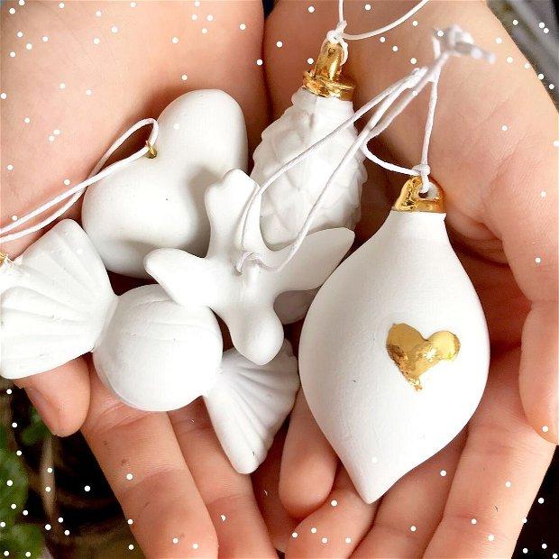 Set 6 Globuri White Christmas