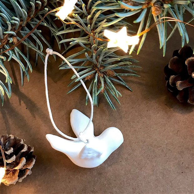 Set 3 Globuri White Christmas