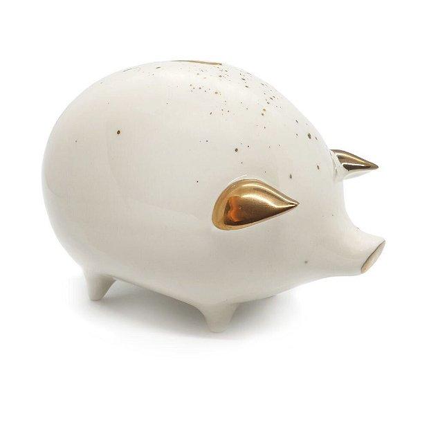 Porc - Pusculita din portelan in forma de porc