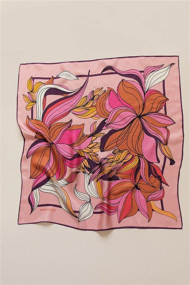 Eșarfa din 100% Mătase - In Bloom Pastel
