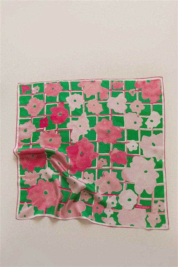 Eșarfa din 100% Mătase - Pastel Watercolor