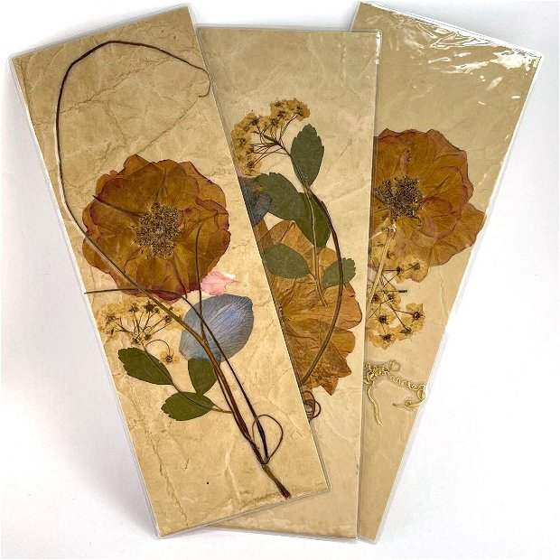 Semn de carte, trandafir(set5buc)