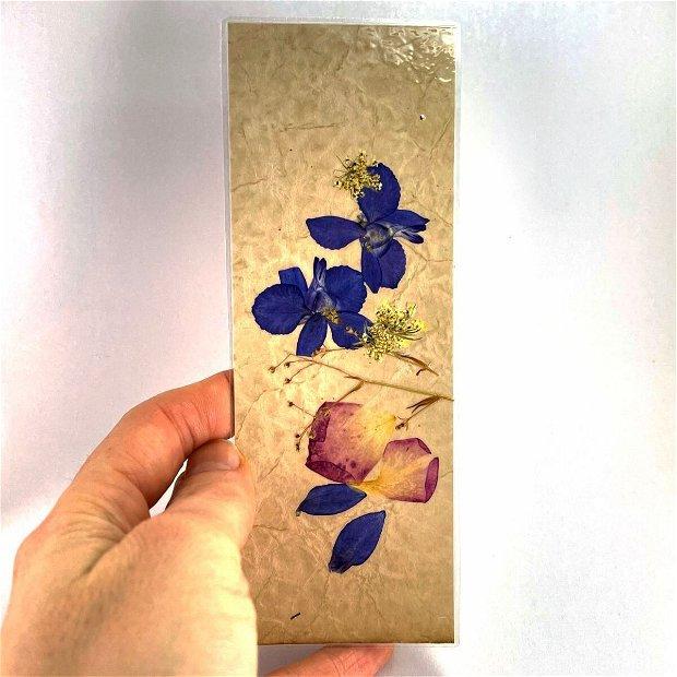 Semn de carte, flori naturale (set 5 buc)