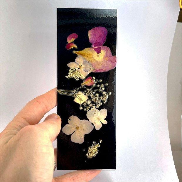 Semn de carte, flori presate(5buc)