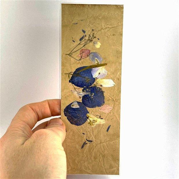 Semn de carte, flori presate(set5buc)