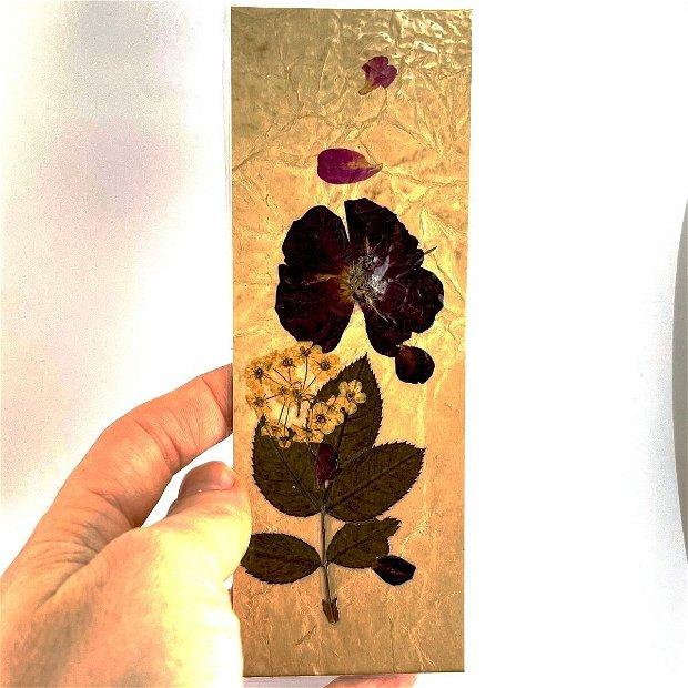 Semn de carte, trandafir(set 5 buc)