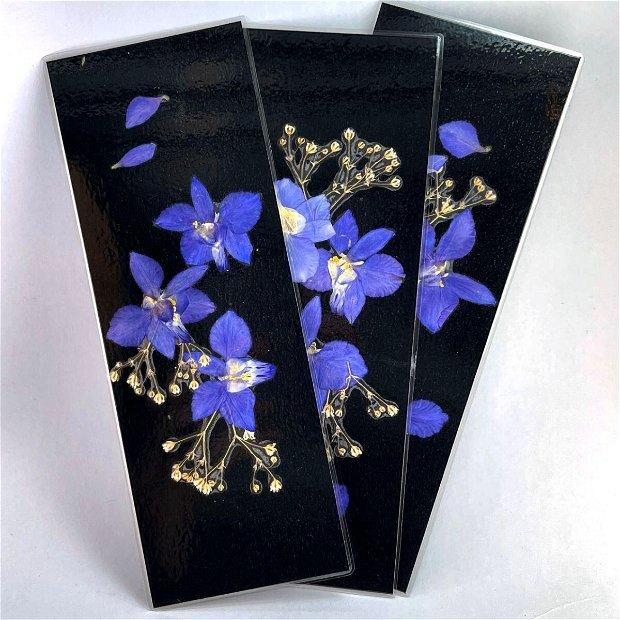 Semn de carte, flori presate(set 5 buc)