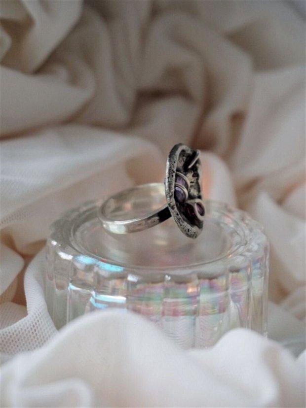 Precious Plate 2 inel | Argint, Ametist si Rubin