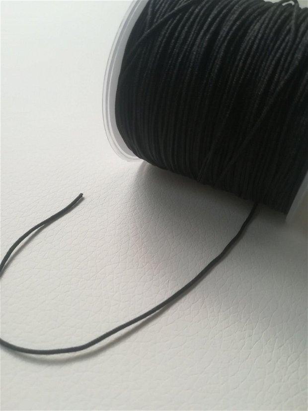 Snur nylon, matasos, negru, grosime 1mm - 1m