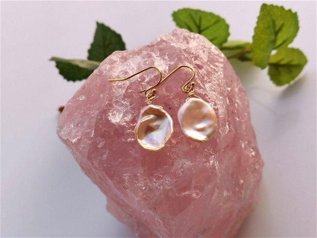 Cercei perle keshi