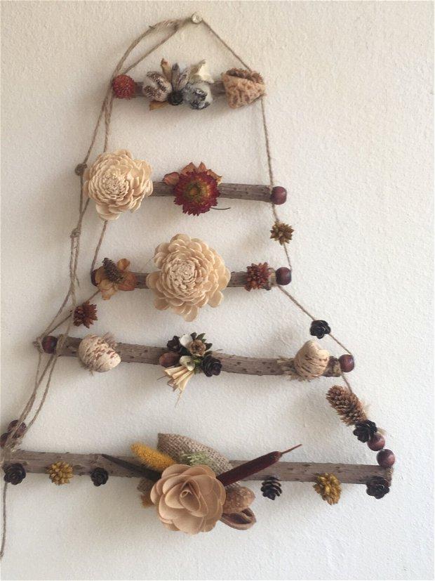 Decorațiune rustica crengi si plante uscate