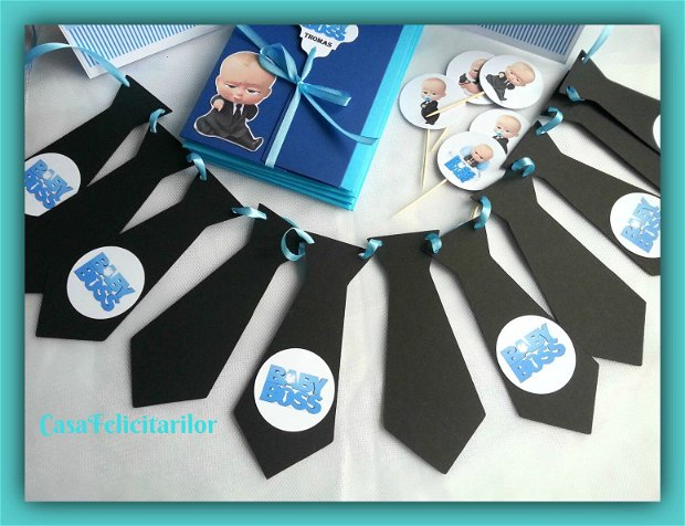 Toppers personalizat cu nume- tematica Baby boss
