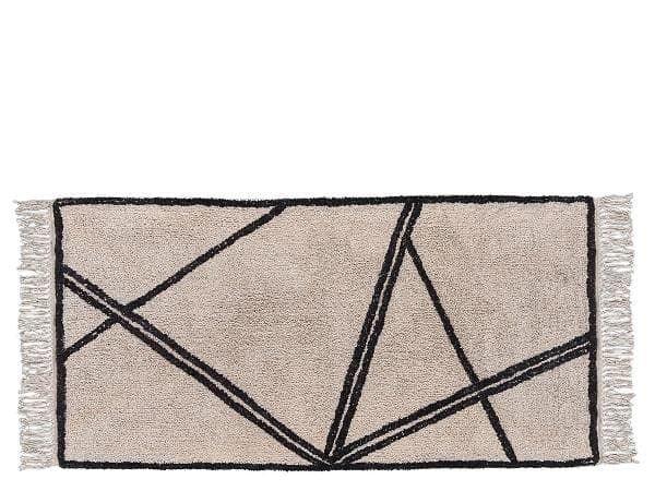 Covor tesut din bumbac Nature 340829 Bej / Negru, 70 x 140 cm, Villa Collection