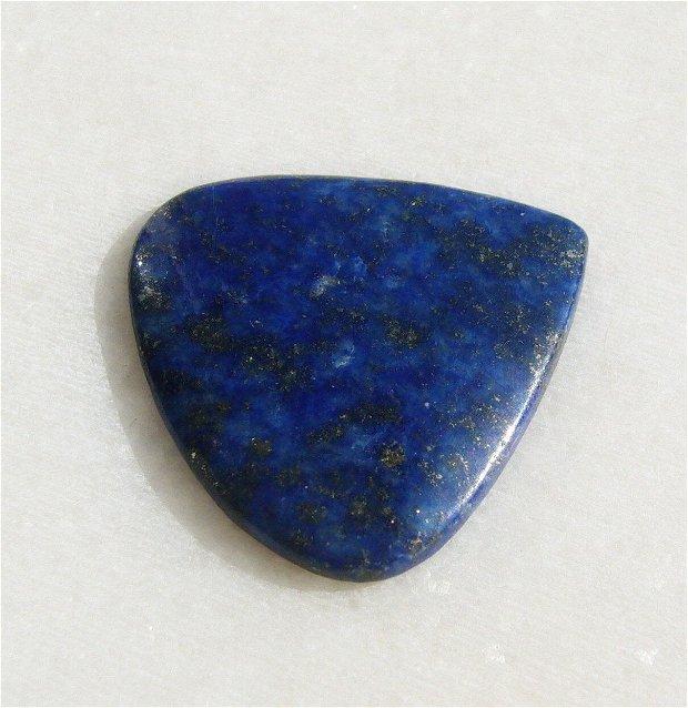 Cabochon lapis lazuli subtire (INDIA - lucrat manual) aprox 3.3x27.4x26.5 mm