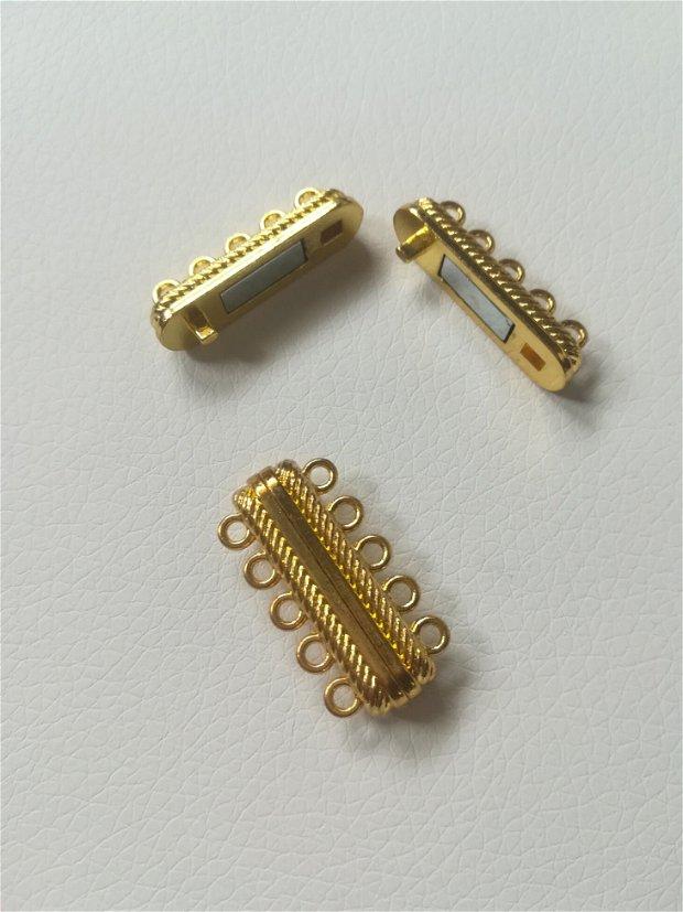 Inchizatoare magnet, multisir, auriu, 28x15 - 1buc