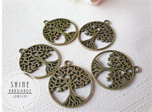 Pandantiv copacul vietii, bronz antic