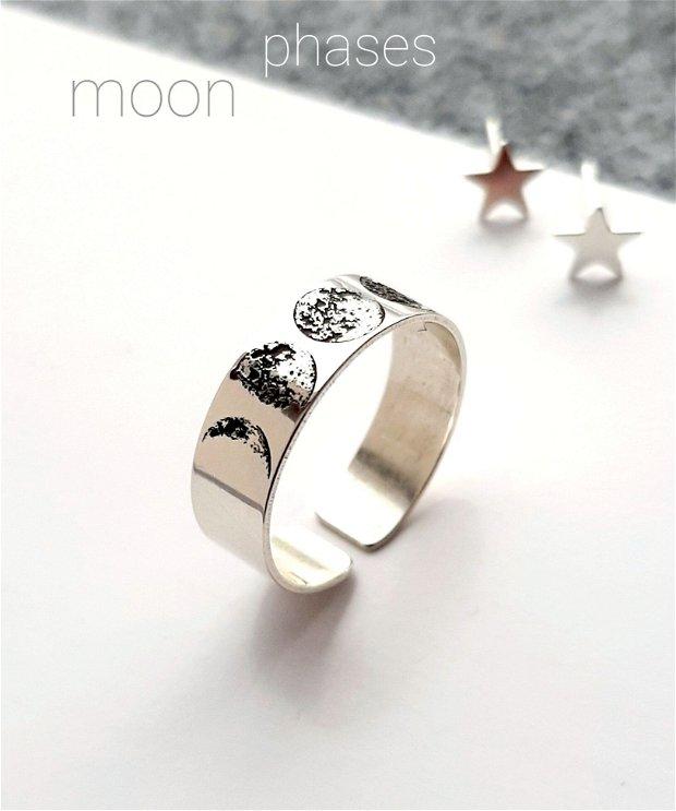 Colier delicat din argint 925 cu fazele Lunii