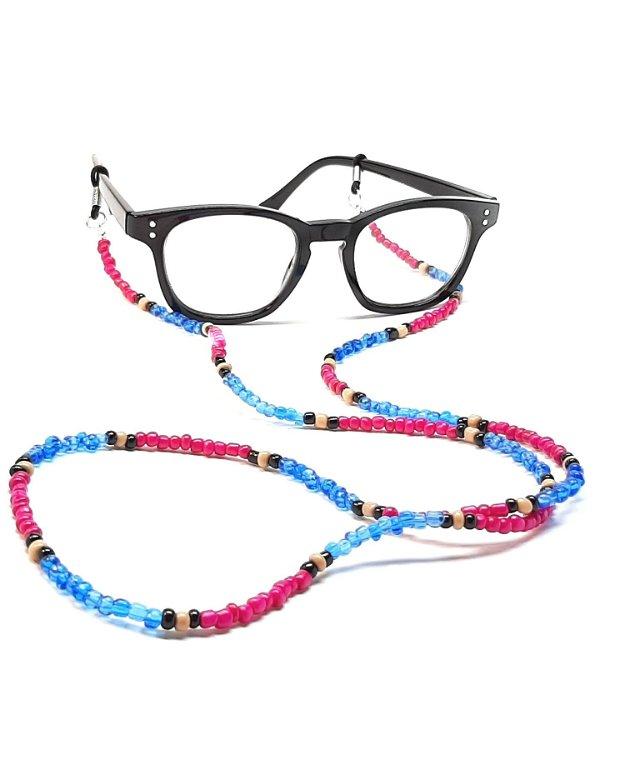 Lant ochelari roz & albastru