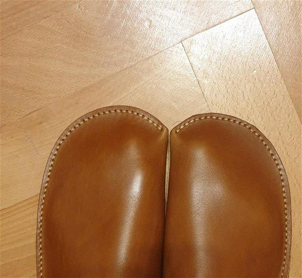 Papuci barbati de casa, din piele tabacita vegetal