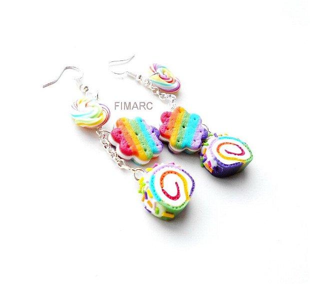 Rainbow Sweets - cercei atarnatori