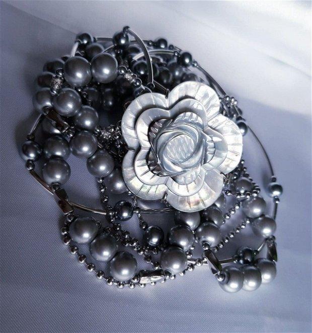 Originality ~ Perle gri & Abalone