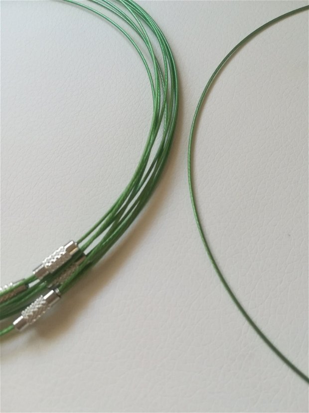Baza colier fix, verde Smarald - 1 buc