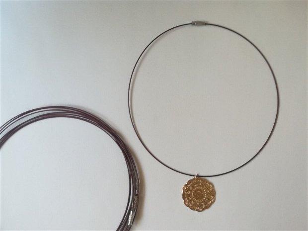 Baza colier fix, maro - 1 buc
