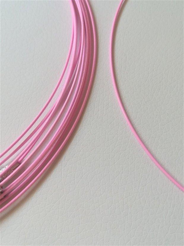 Baza colier fix, roz neon - 1 buc