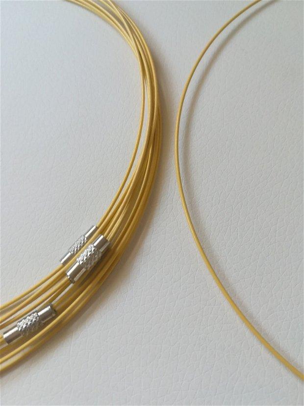 Baza colier fix, galben - 1 buc